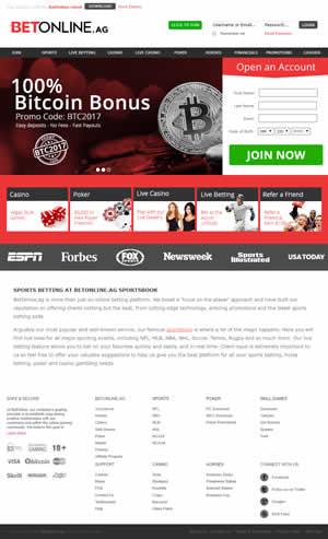 Betonline Sportsbook Website