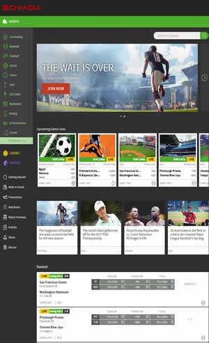 Bovada Sportsbook Website