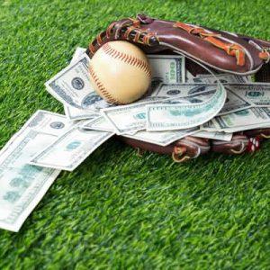 baseball glove with money