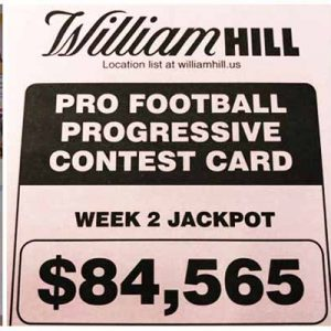 William Hill Week 2 Progressive Football Parlay Card