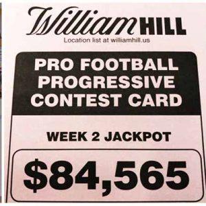 William Hill Week 2 Progressive Football Parlay Card