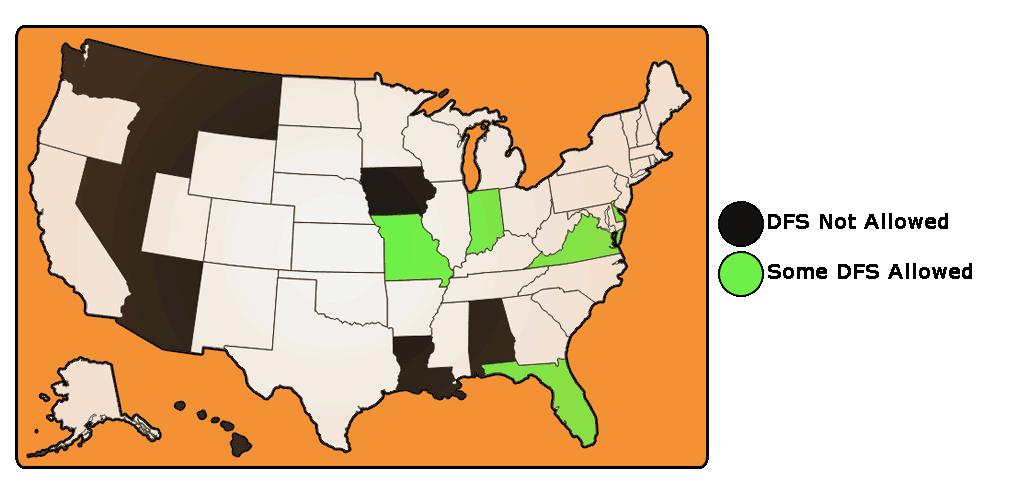 Map of states allowing DFS