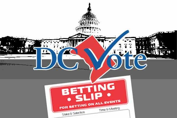Washington DC betting slip