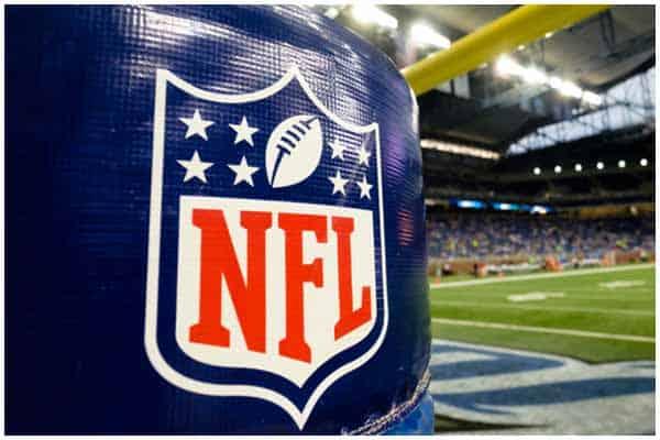NFL logo on the flag pole