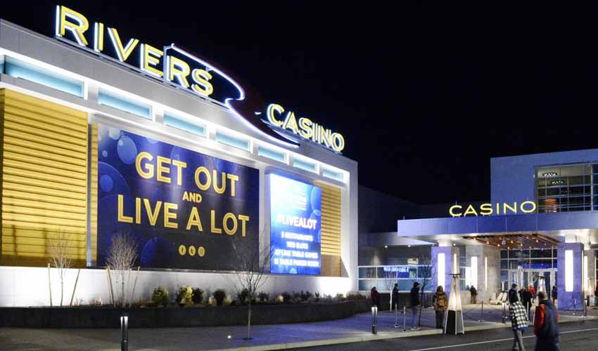 Outside the Rivers Casino