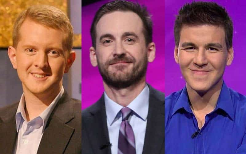 jeopardy Ken Jennings Brad Rutter and James Holzhauer
