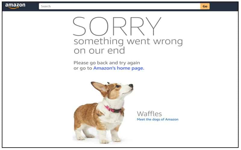 Amazon site crash