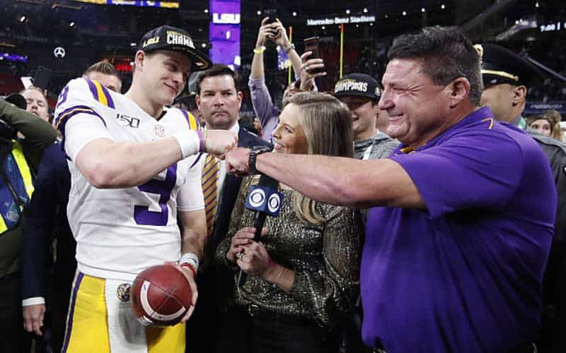 LSU favored clemson national championship