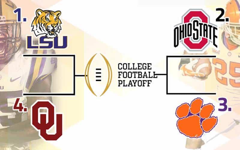 College Football Playoff Semis odds: LSU over Oklahoma ...