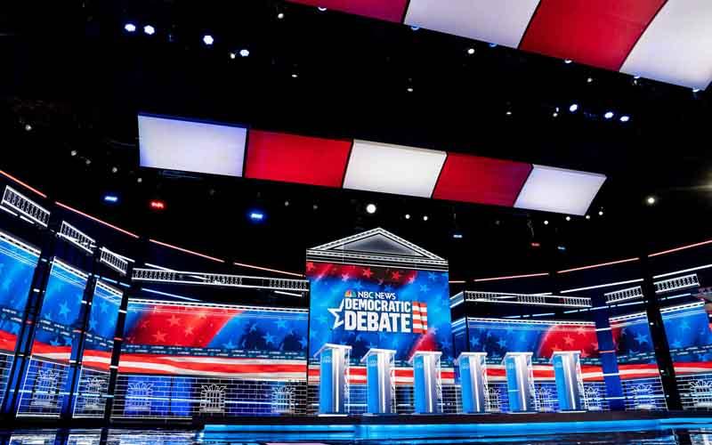 nevada debate stage
