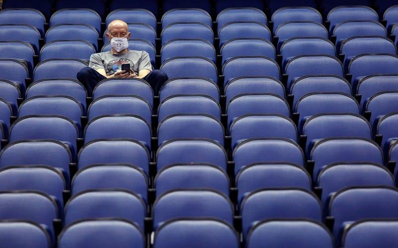 Coronavirus empty sports stadium