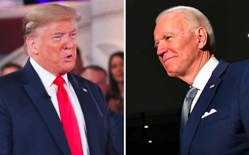 Trump, Biden odds to win 2020 election are tied amid ...