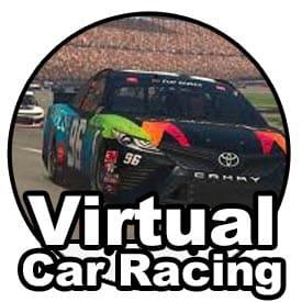 Virtual car racing icon