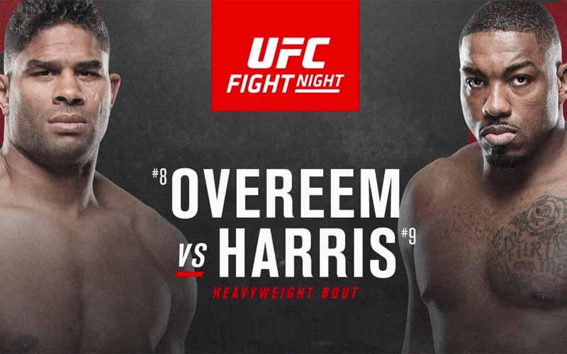 Overeem vs Harris UFC Odds