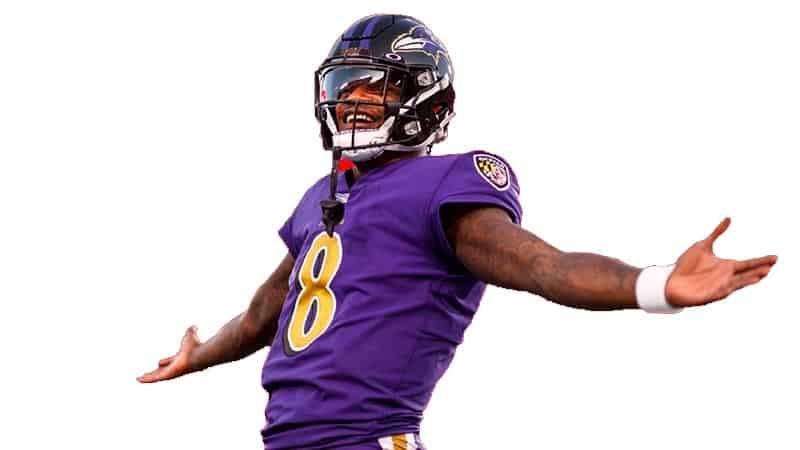 Lamar Jackson white background