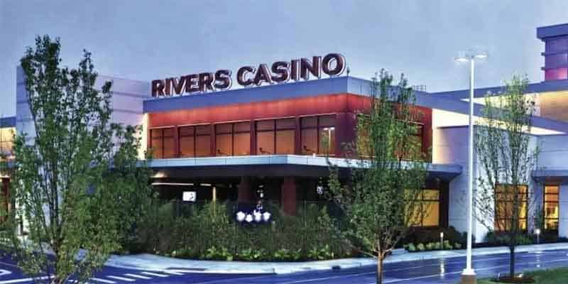 a picture of the Rivers Casino in Des Plaines IL