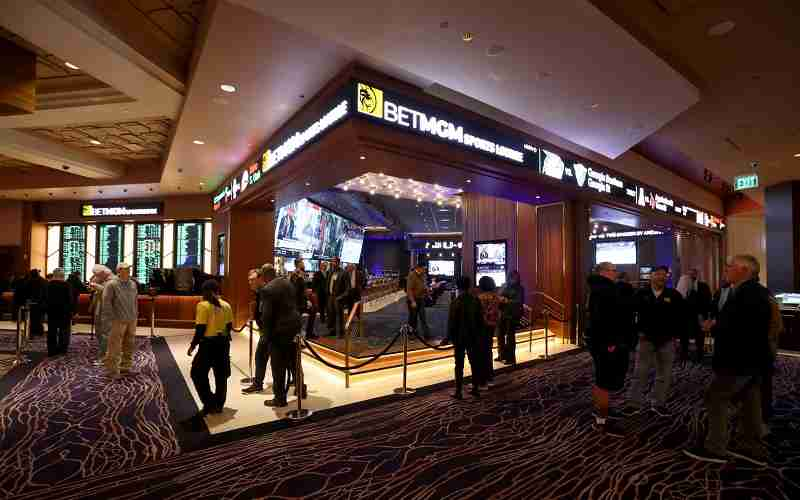 a BetMGM betting lounge