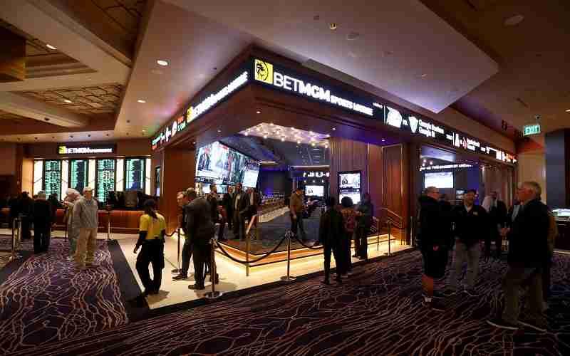 a BetMGM betting lounge