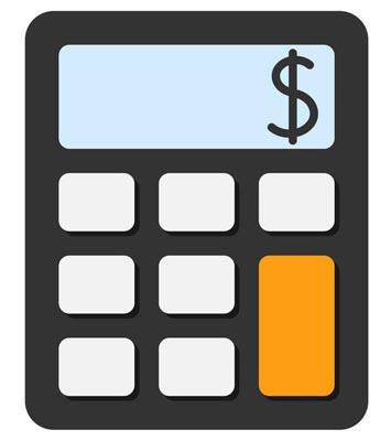 Calculator black and orange