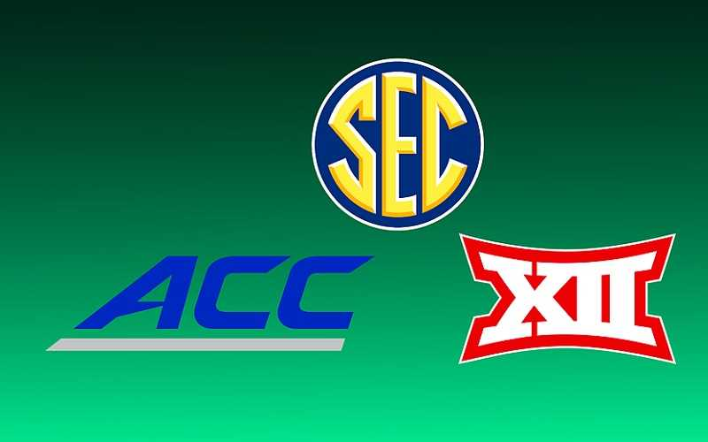 ACC SEC and BIG 12 logos