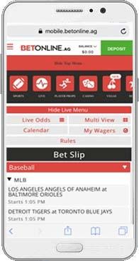 BetOnline mobile options
