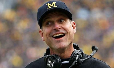 Jim Harbaugh Happy