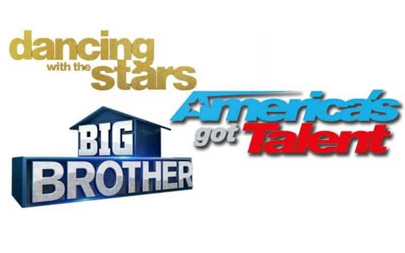 Big Brother, America's Got Talent, and Dancing With The Stars logos