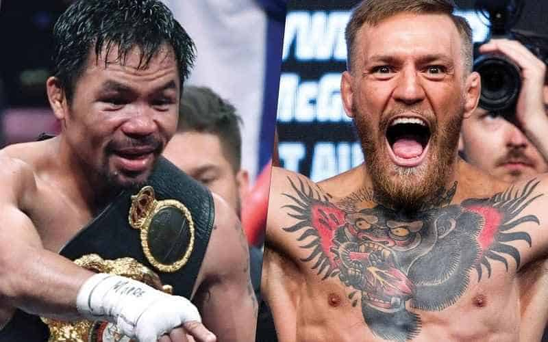 image of manny pacquiao and conor mcgregor side by side