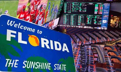 Florida welcome sign in a large sportsbook