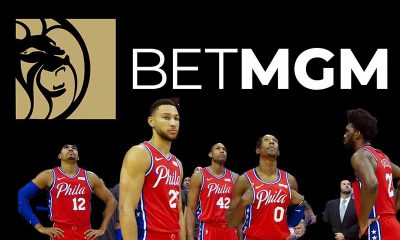 Philadelphia 76es and BetMGM logo