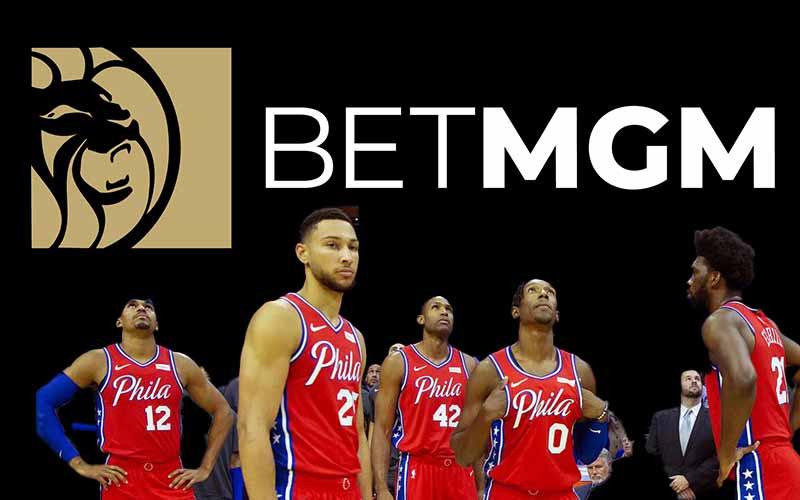Philadelphia 76es and BetMGM logo
