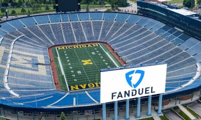 Michigan Stadium with FanDuel sign