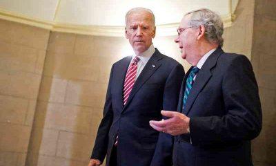 Senator McConnell talking to President Biden