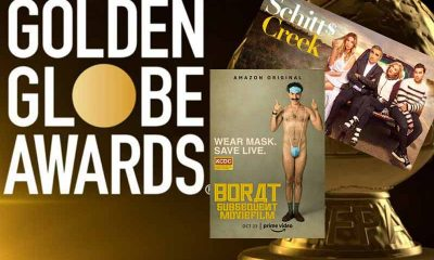 78th Golden Globes promo for betting odds for Borat and Schitt's Creek