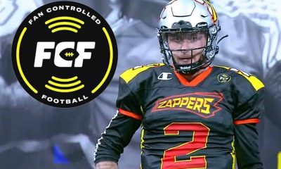 FCF logo with Johnny Manziel of the Zappers