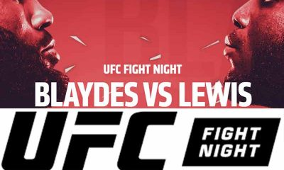 Promo previewing UFC betting odds for Fight Night between Blaydes and Lewis