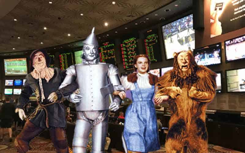 Sports Betting In Kansas being enjoyed by Dorothy and the rest of the cast to the Wizard of Oz