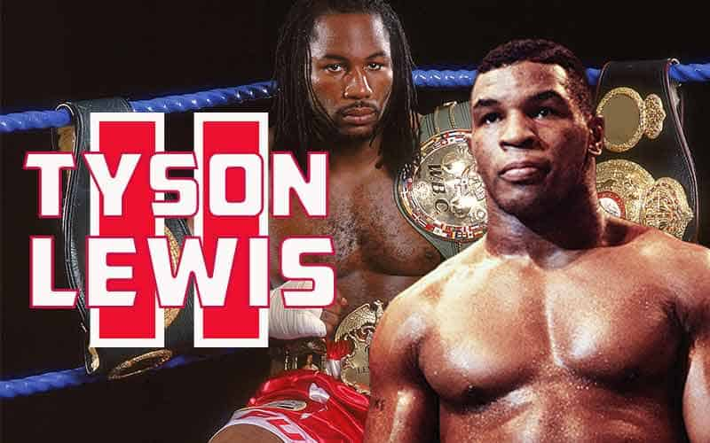 Mike Tyson and Lennox Lewis promo for a potential second fight titled Tyson Lewis II