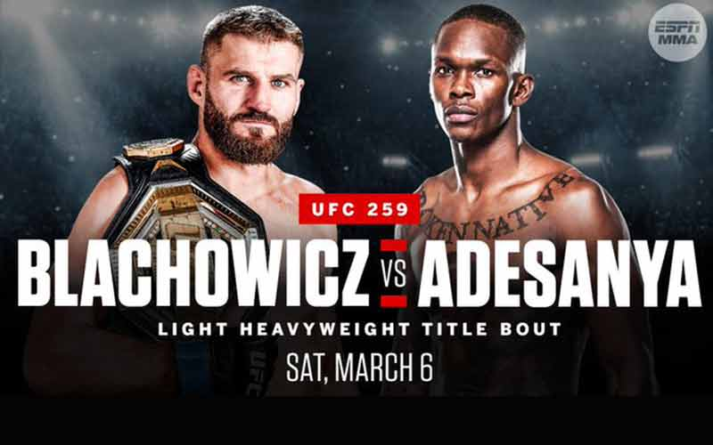 Jan Blachowicz vs. Israel Adesanya Promo For UFC 259 MMA Odds
