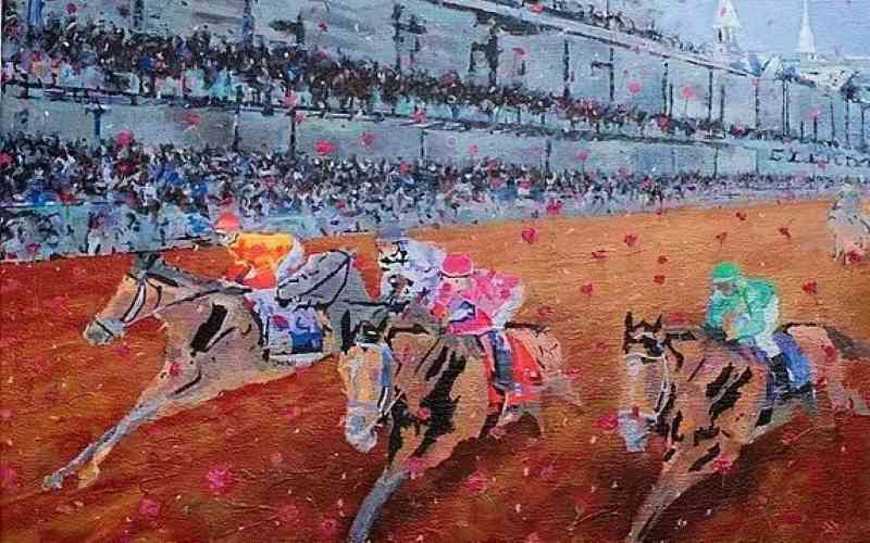 kentucky derby painting