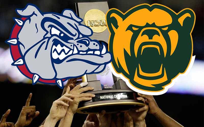Baylor Gonzaga NCAAB National Title betting odds