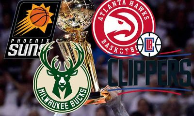 NBA Playoff Picture for the final four 2021 teams Hawks Bucks Suns Clippers
