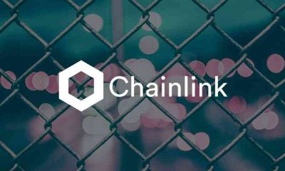 chainlink logo on chainlink fence