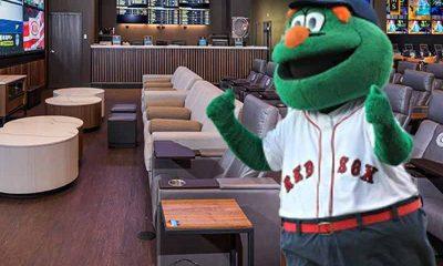 Boston Red Sox mascot in legal MA sportsbook