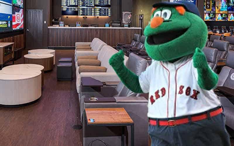 Boston Red Sox mascot in legal MA sports betting