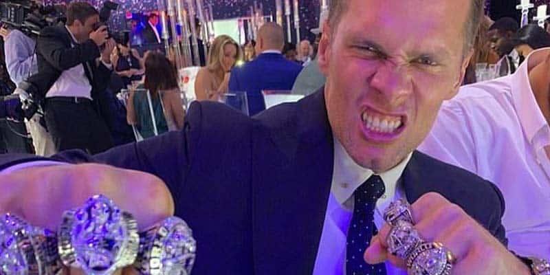 Tom Brady rings