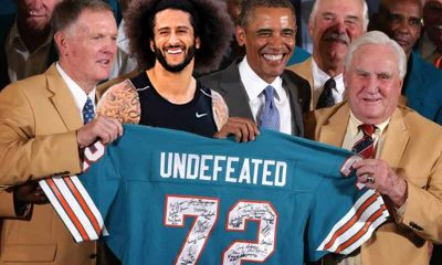 Odds of an undefeated team in the NFL vs Kaepernick signing