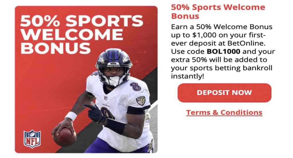BetOnline welcome bonus