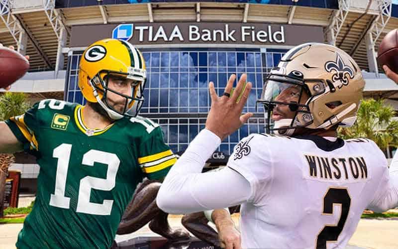 Aaron Rodgers Jameis Winston NFL odds for Week 1 game in Jacksonville