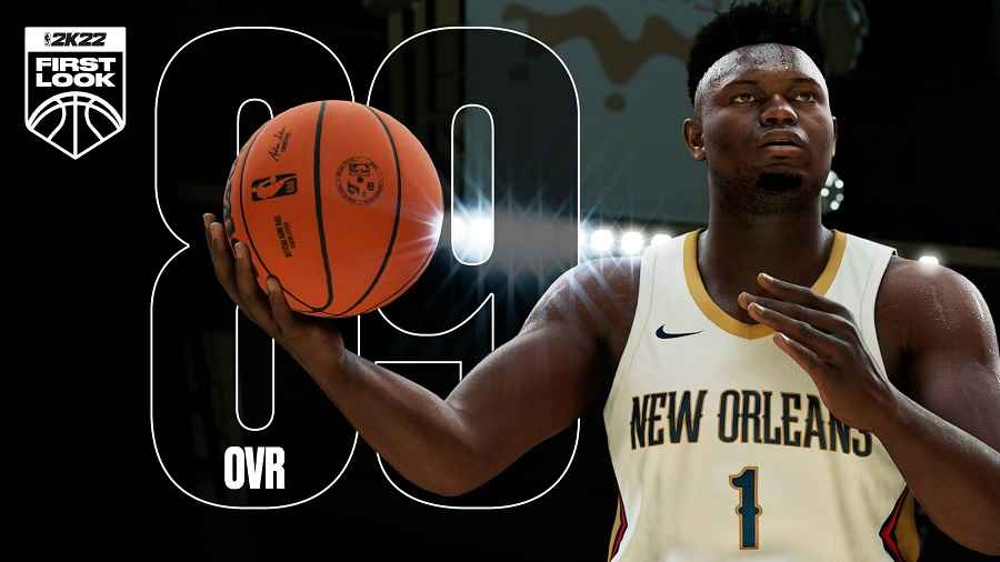 Zion Williamson NBA 2K22 odds for betting on eSports and sims